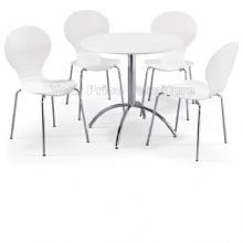 Kimberley Dining Set White Table & 4 White Chairs 1/2 Price Deal